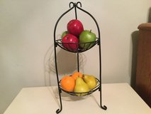 Metal stand and artificial fruit in Moody AFB, Georgia
