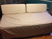 Twin Trundle Bed w cover and back bolsters in Bolingbrook, Illinois