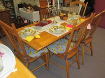 Great Soled Oak Drop Leaf Table And 4 Chairs Set in Camp Lejeune, North Carolina