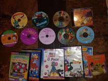 16 Pieces Kids Movies and Educational DVD's in Bolingbrook, Illinois