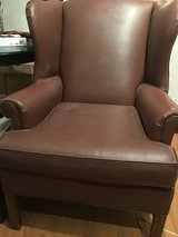 Brown Leather Wingback Chair in Fort Campbell, Kentucky