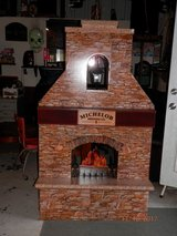 Michelob beer promo 3d lighted fireplace in Byron, Georgia