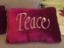 Love and Peace pillows in Kingwood, Texas