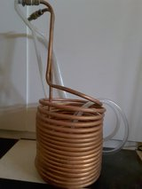 Copper wort chiller for brewing in Yucca Valley, California