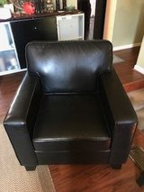 Set of (2) Faux Leather Black Chairs in Quantico, Virginia