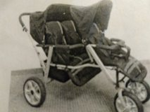 Triple Trio Tandem Baby Jogger Stroller w/Rain shields in Beaufort, South Carolina
