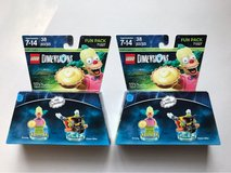 Two (2) LEGO Dimensions The Simpsons Krusty The Clown Fun Pack 71227 in Cleveland, Texas