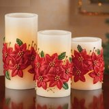Set of 3 Christmas Wax LED Candles in Ramstein, Germany