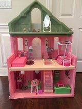Durable Step2 Grand Balcony Dollhouse for Barbie Dolls - Filled with Furniture & Accessories in St. Charles, Illinois