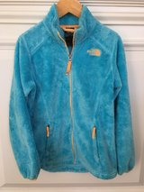 Girls North Face Fleece Zip-Front Jacket - Blue Size 10-12 in Westmont, Illinois