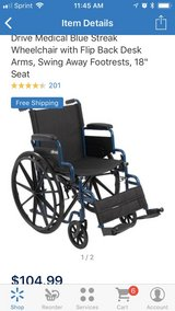 Blue Streak Wheelchair 2 in Fort Knox, Kentucky