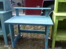 Reduced! Distressed turquoise desk in Melbourne, Florida