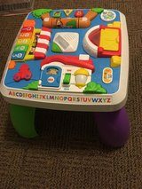 Laugh and learn activity table in Fort Drum, New York