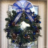 Royal Blue Christmas wreath in Fort Hood, Texas