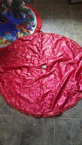 Christman tree skirt in Travis AFB, California