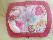 Pink infant tummy time play mat in Camp Pendleton, California