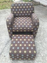 2 chairs with rolling hideaway ottoman. in Warner Robins, Georgia