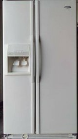 Whirlpool Side by Side White Refrigerator in Camp Pendleton, California