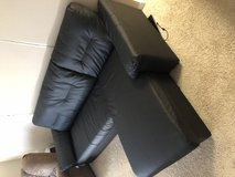Black leather L-Shaped couch in Camp Pendleton, California