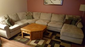 Microfiber sectional couch in Aurora, Illinois