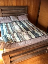 Brand new queen bed set with mattress, comforter and bedsheets in Okinawa, Japan