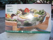 Glass salad Bowl with Wood Frame in Camp Pendleton, California