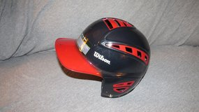 Wilson Sleek 2 Tone Batting Helmet Red/Black in Yorkville, Illinois