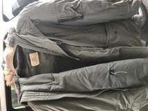 Old flying Jacket.  Parka in Travis AFB, California