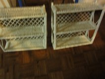White Wicker Wall Cabinets in Cleveland, Ohio