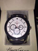 Kenneth Cole Men's Black Leather Watch with Leather Wrapped Face in Quantico, Virginia