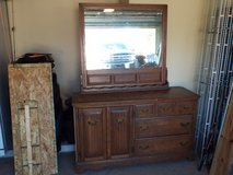 6 Drawer dresser with a mirror back. Need to sell now. Moving soon in Leesville, Louisiana