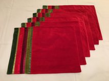 Crate & Barrel Holiday Placemats, set of six in Schaumburg, Illinois