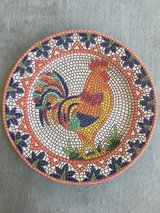 Mosaic Rooster Platter in Fort Hood, Texas