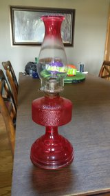 farmhouse oil lamp works great  very old in Orland Park, Illinois