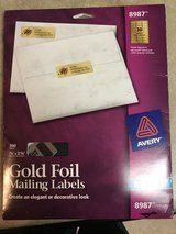 Gold mailing labels in Byron, Georgia