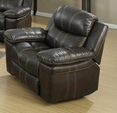 New Brown Leather Swival Rocker Recliner in The Woodlands, Texas