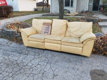 FREE RECLINING LEATHER COUCH in Elgin, Illinois