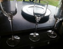 CANDLE HOLDERS W/BROWN TRAY in Yorkville, Illinois