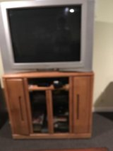TV AND CABINET in Oswego, Illinois