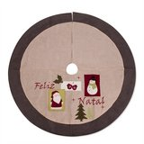 "48"" Burlap  Christmas Tree Skirt in Clarksville, Tennessee"
