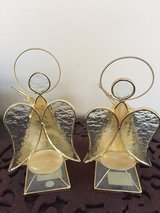 NEW Stained Glass Christmas Angels Tea Lites in Joliet, Illinois