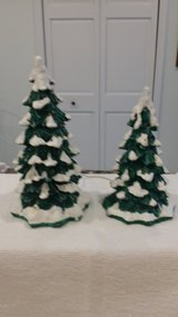 Dept. 56 - Lighted Snow Capped Trees in Naperville, Illinois