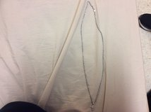 White gold rope chain with cross pendant for sale in Fort Carson, Colorado