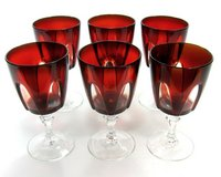 Ruby Red  cut clear Crystal Stemware in Spring, Texas
