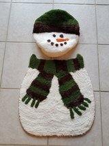 New christmas bathroom rug and toilet cover in Joliet, Illinois