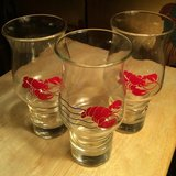 Red Lobster Hurricane Glasses in Perry, Georgia