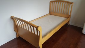 "SOLID WOOD TWIN BED MAPLE NATURAL MADE IN ITALY  BY ""PALI"" DESIGN -  CAN INCLUDE MATTRESS AND BU... in Aurora, Illinois"