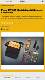 Fluke meter set 117/323. New in Oswego, Illinois