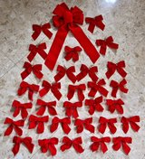 31 Red Christmas Bows in Okinawa, Japan