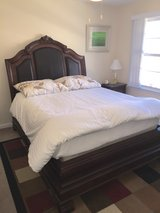 Queen size bed with mattress and box springs in Fort Knox, Kentucky